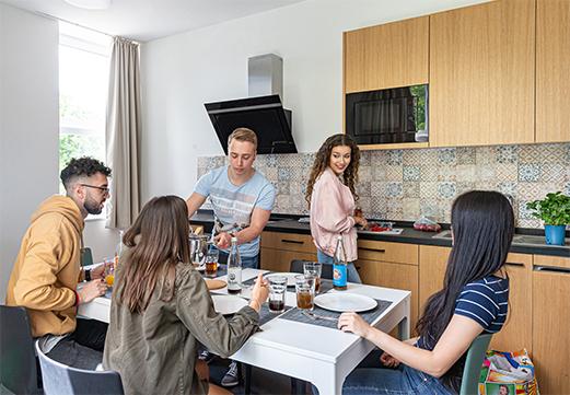 Kitchen (communal kitchen) - STUART Student Apartments, Hamburg