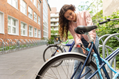 Fahrradstaender - Ausstattung einer moeblierten 1-Zimmer-Wohnung