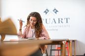 Study Room - Ausstattung möblierte 1-Zimmer-Wohnung Student Apartments Hamburg